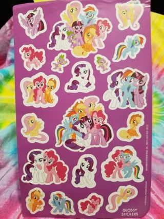 LARGE MY LITTLE PONY STICKERS