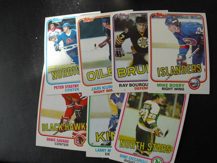 Free: Lot of 7 1981-82 Topps Hockey Star and Rookie Cards