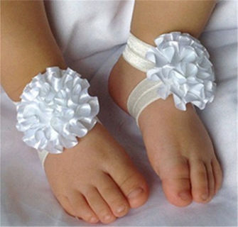 1set/3Pcs Baby Infant Headband Foot Flower Elastic Hair Band Accessories You Choose Color