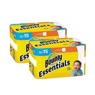 ♨️~ Bounty Essentials Full Sheet Paper Towels, 24 Large Rolls = 30 Regular Rolls ~♨️