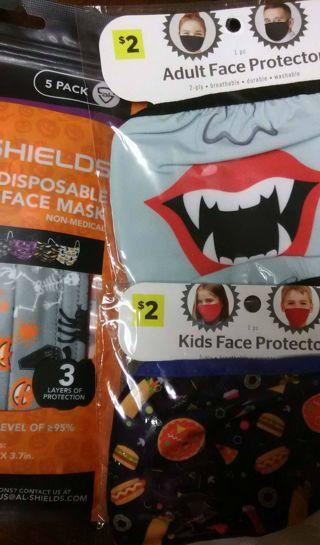 Halloween Face Mask Lot