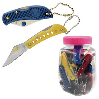1 NEW Small Mini Half-Serrated Key Chain Pocket Knife FREE SHIPPING