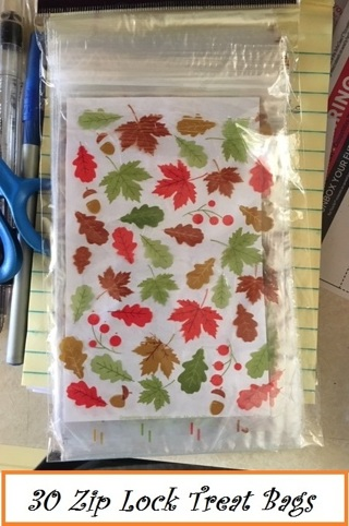 ❄(New) <6 Days Only> 30 Halloween Ziploc Treat Bags ❄