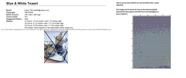 Teacups Cross Stitch Pattern ***WINNERS CHOICE***