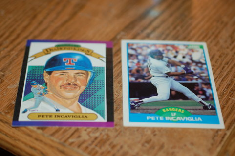 Set of 2 Texas Rangers Pete Incaviglia Baseball cards