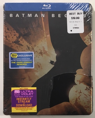 Batman Begins Best Buy Exclusive Steelbook Blu-ray Movie - Brand New Factory Sealed