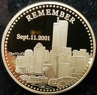 September 11th 2001 Remembrance Coin Fredom Statue of Liberty 911