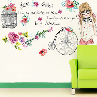 Flower Girl Removable Vinyl Quote DIY Wall Sticker Decal Mural Home Room Decor
