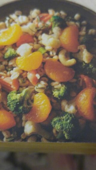 Vegetable Barley Salad & Five-Spice Pork with Berry Sauce Recipes #1