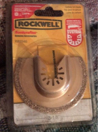 Rockwell Sonicrafter Carbide Grit Blade Model (RW8946)