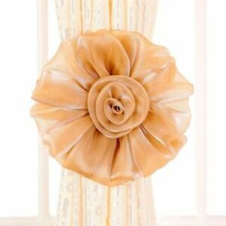 Delicate Curtain Tie Clip-on Backs Holdback Tieback Curtains Holder Cloth Flower