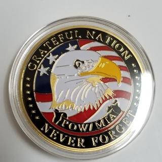 Golden Grateful Nation Freedom Commemorative Coins Challenge Souvenir Gift