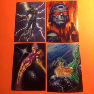 4 DC Comics Skybox 1994 Cards!