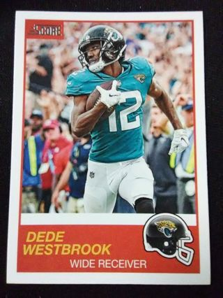 2019 Score Dede Westbrook Football Card #64