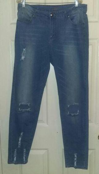 Plus Size distress jeans, size 20