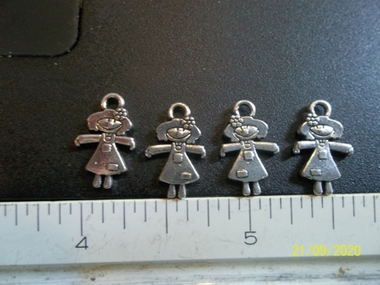 4 pc lot tibetian silver little girl charms