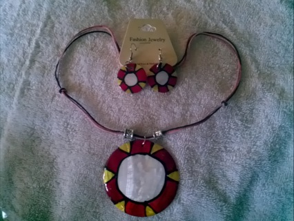 ★RED/YELLOW NECKLACE & EARRINGS★GIN BONUS !!