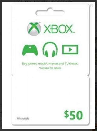 Xbox Live $50 Code PAY WITH XNK