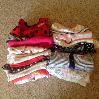 BIG Lot of 20+ Baby Girl 9 Month Clothes