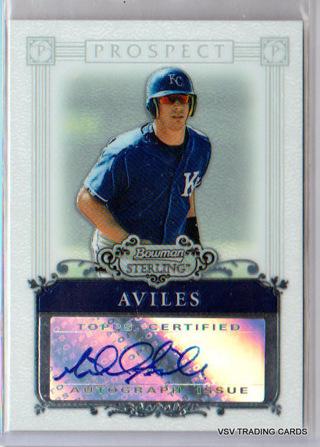 Mike Aviles, 2006 Bowman Sterling Autographed Prospect Card #BSP-MA, Kansas City Royals
