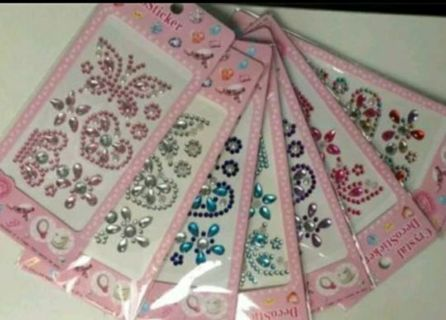 ***** CRYSTAL DECO STICKERS*** FREE SHIPPING