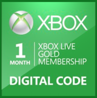 Xbox Live One Month Digital Code - Digital Photos and Descriptions