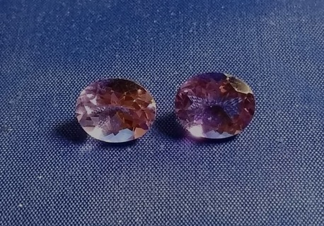 AMETHYST NATURAL MATCH PAIR 6.71 TCW 9X11 MM THESE ARE BEAUTIFUL LOOK WOW!