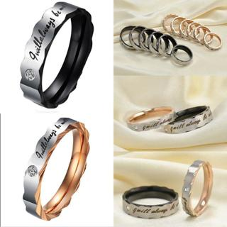 Couple Rings Titanium Steel Black&Gold Lover's Wedding Engagement Promise Band