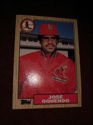 Baseball Card - Jose Oquendo 1987