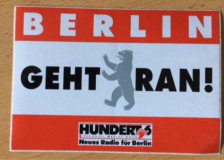 Large Radio Station Sticker from Berlin, Germany