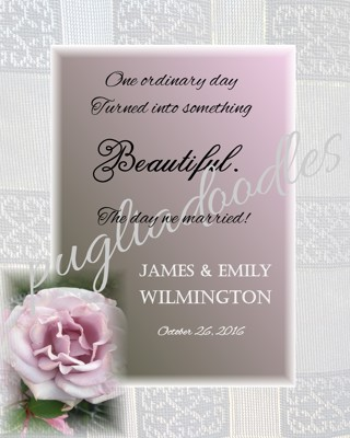 Personalized Wedding/Anniversary LOVE Quote Poster - 8 x 10 Unframed
