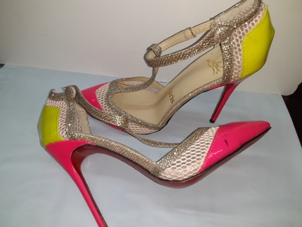 SEXY Stiletto Heels Size 6 Women Says Paris