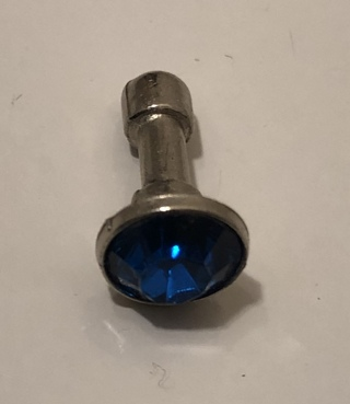 BRAND NEW SILVER CELL PHONE DUST PLUG W/BLUE STONE (SAPPHIRE - SEPTEMBER BIRTHSTONE) FREE SHIPPING!