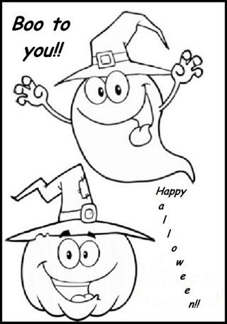 •❤️• (New) 5 Halloween Kids Coloring Sheets -#3 •❤️•