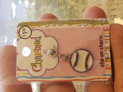 New in pkg. Cute baseball charm