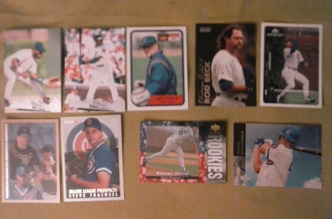 9 card chicago cubs lot rookies insert