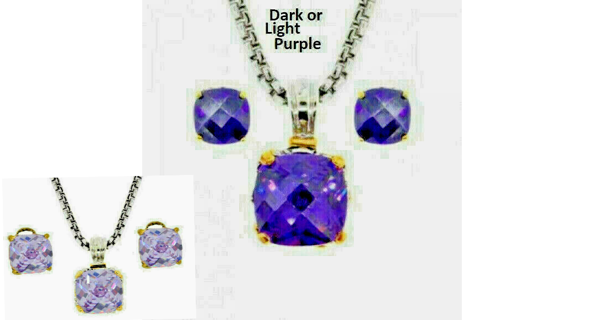 NWT purple OR lavender pendant earring 2 pc NWT