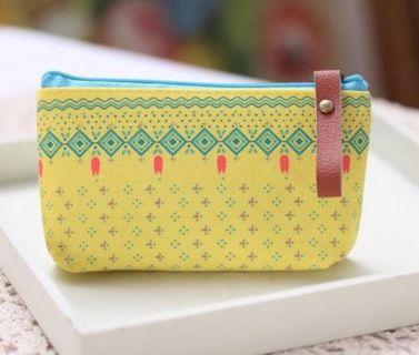 Yellow Makeup Bag