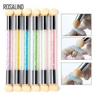 ROSALIND 1PCS Double Head Nail Art Gel Polish Color Gradient Brush Transfer Stamping Blooming Pen