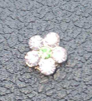 Flower living locket charm