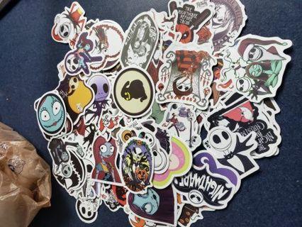 10 random N.B.C. stickers