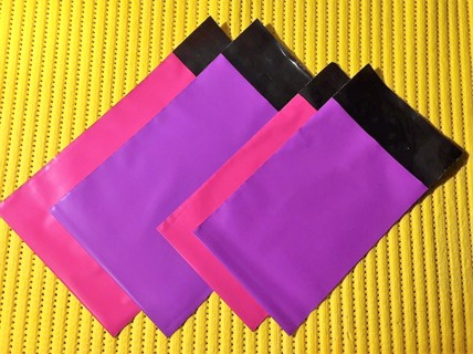"10 COLOR or WHITE 5"" x 7"" Mini Poly Mailers"