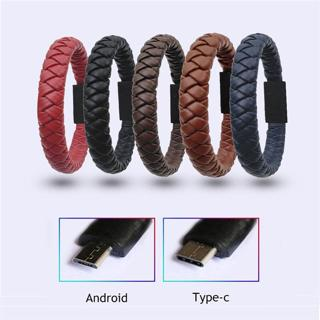 Bracelet USB Cable for iPhone Samsung Type C Micro usb Fast Charging Data Sync Cable for Huawei Xi
