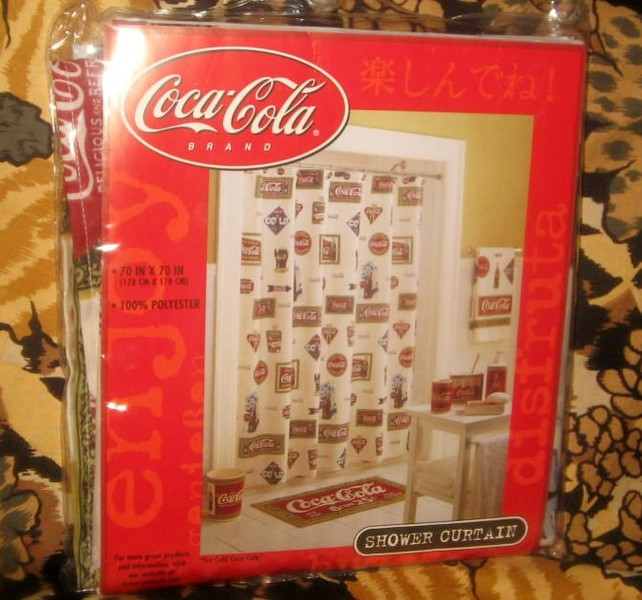 Free coca cola new shower curtain free other home - Bathroom coca cola shower curtain ...