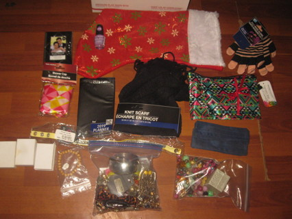 Medium Flat Rate Box Lot #3 - For Her - 1+ LB jewelry, Scarf, Gloves, +++ -  lots of brand new