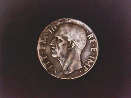 1940 Italy 10 Centesimi Coin.
