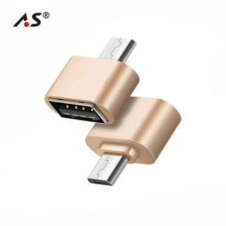 A.S Mini OTG Cable USB OTG Adapter Micro USB to USB Converter for Samsung HTC Xiaomi Sony LG Table