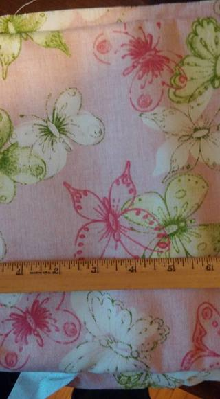 100% Cotton Butterfly print material