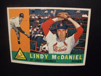 1960 - TOPPS NRMT BASEBALL CARD NO. 195 - LINDY McDANIEL - CARDINALS