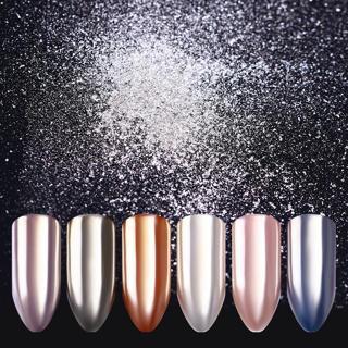 0.5G Born Pretty Mirror Silver Nail Powder Dust Shinning Chrome Pigment Manicure
